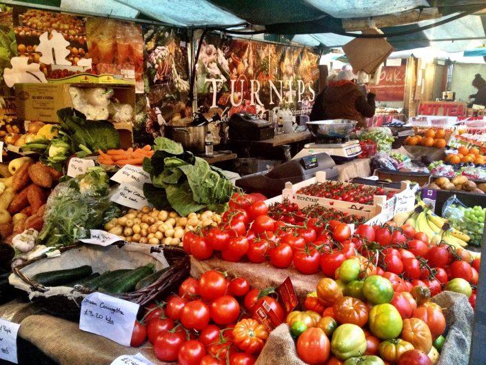 Veg stall - Real Food Market, London