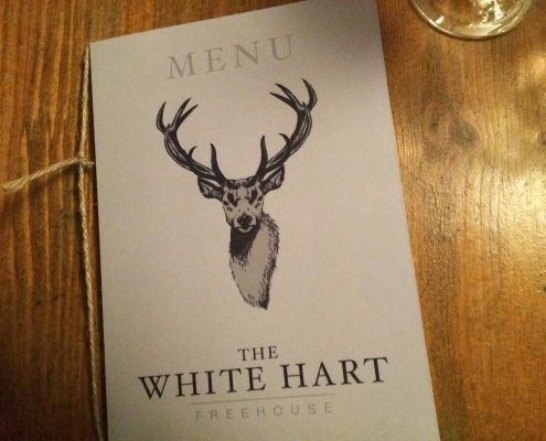 White Hart pub, Whelpley Hill menu