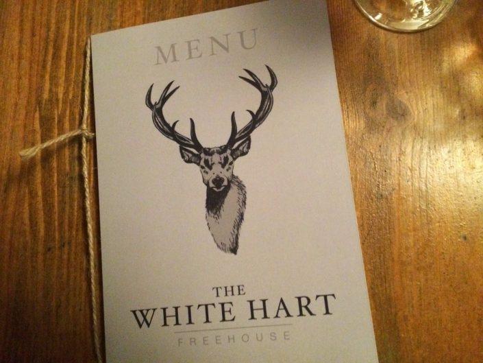 White Hart pub, Whelpley Hill menu