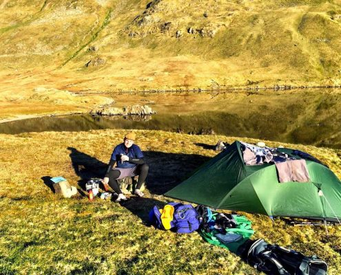 Wild Camping kit explosion in the Lake District