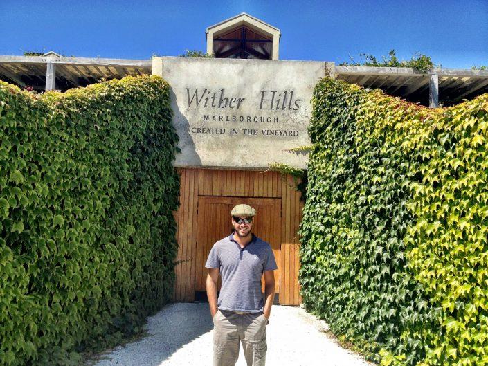 Simon Heyes, wine tasting at Wither Hills, Marlborough, New Zealand