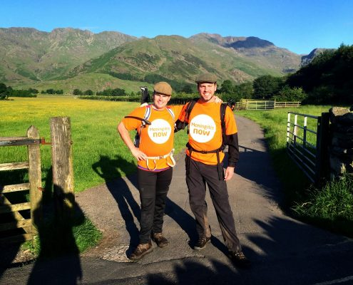 24 peaks hiking challenge for Meningitis Now