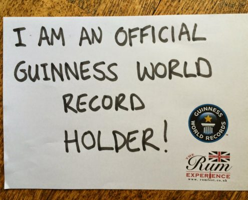 Guinness World Record For Rum Tasting - London