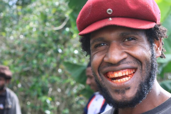 Betel Nut creates a red, bloody mouth effect to the people of Papua New Guinea