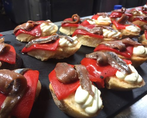 Winning a trip to the Basque Country, pintxos competition