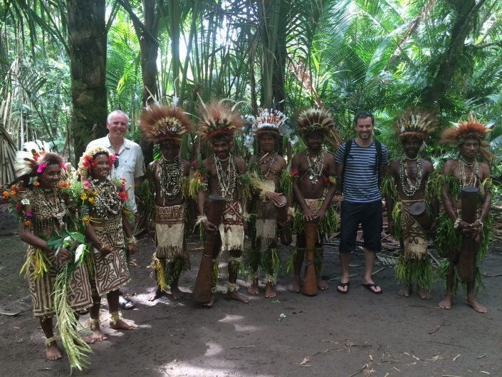 Simon Heyes (and dad) in Tufi, Papua New Guinea