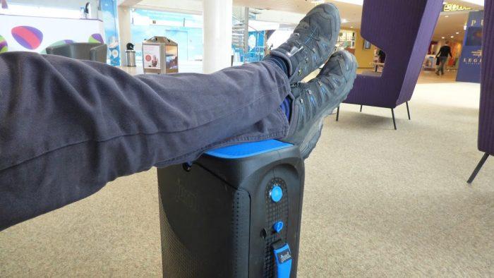 Feet on the Jurni sutcase