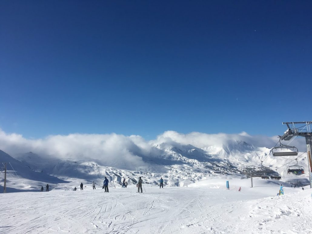 Bluebird day in the Paradiski, La Plagne