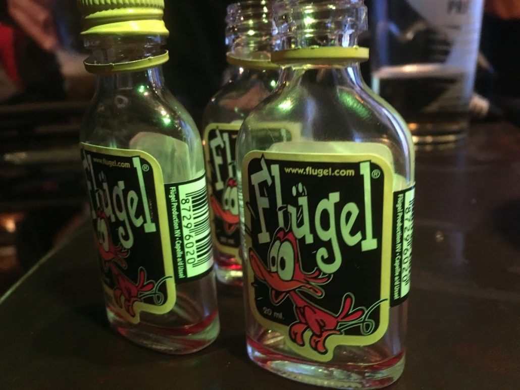 Flugel shots in Bar La Mine, Plagne 1800, France