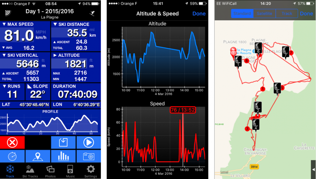 Ski Tracks performance app