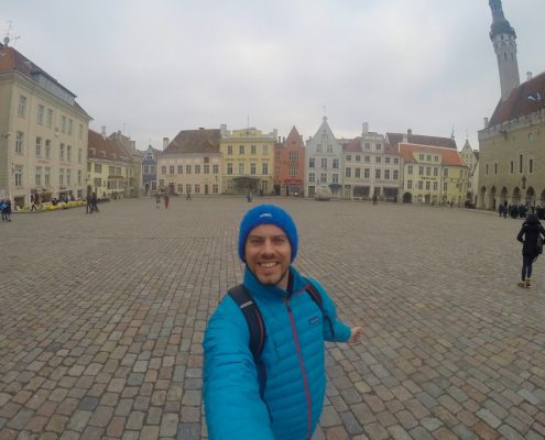 Simon Heyes is Tallinn's Old Town Square