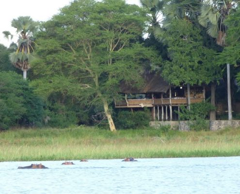 Mvuu Lodge over the Shire River - Malawi