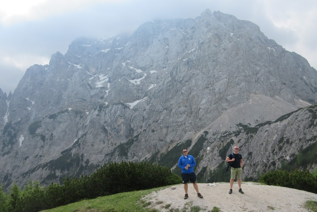 Looking towards the North wall of Prisank Mountain - Triglav, Slovenia