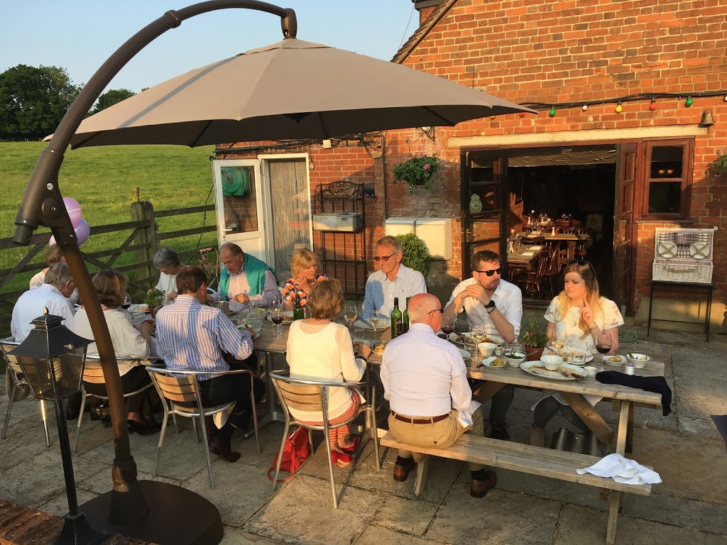 Al fresco, outdoor dining at the Bricklayers Arms, Flaunden
