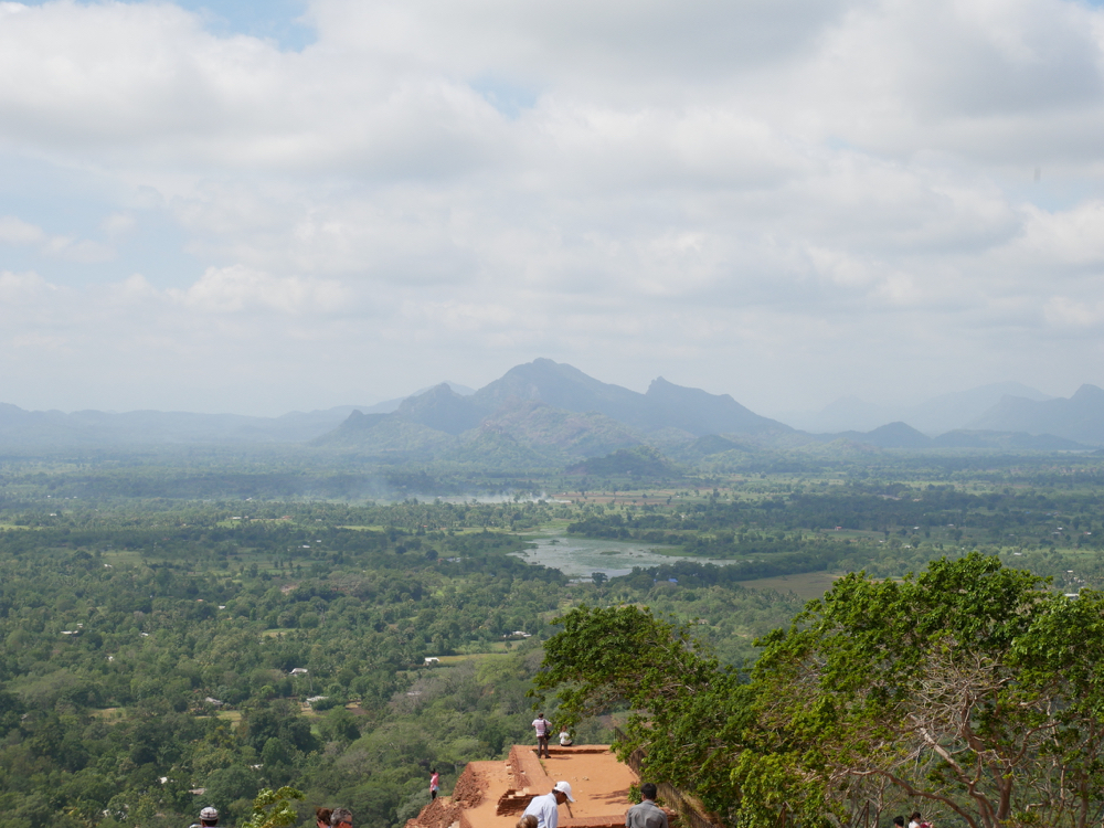 Views from the top of Sigiriya rock, Sri Lanka