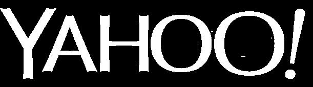 Yahoo logo white