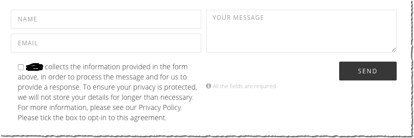 A GDPR contact for checkbox - WordPress