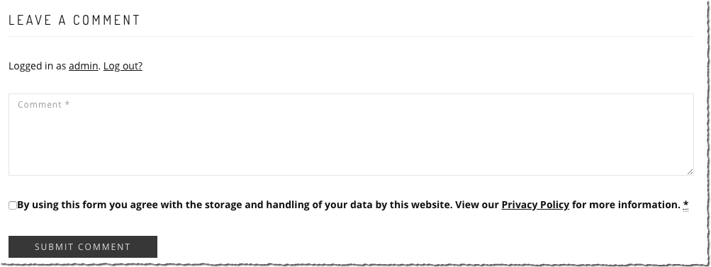 The WP GDPR plugin for WordPress helps to add a checkbox next to data entry points on your blog