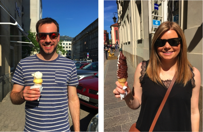 Ice Cream in Warsaw, Poland
