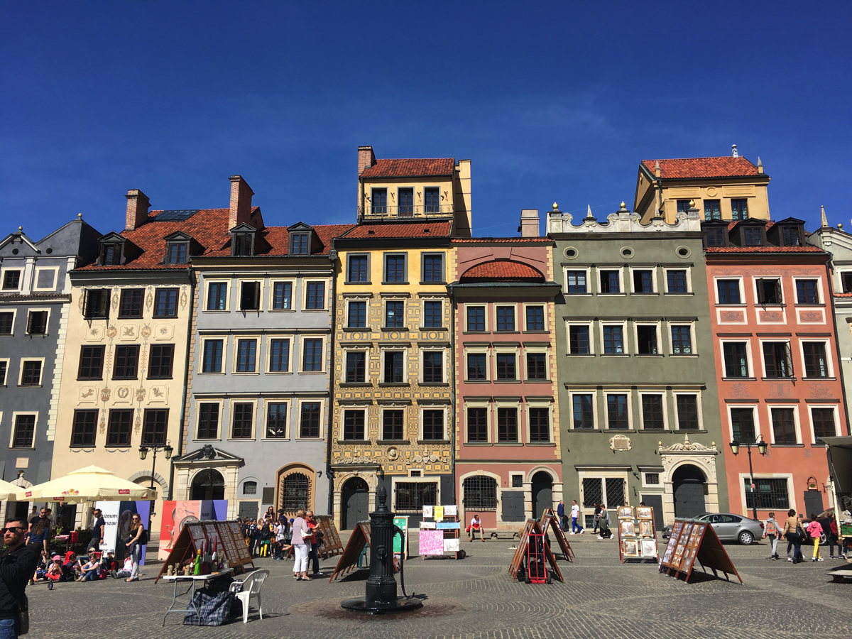 Warsaw Old Town market square - Adventure Bagging