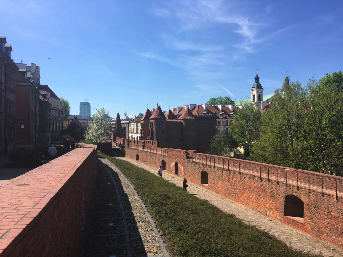 Warsaw Old Town walls