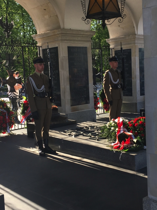 The tomb of the unnamed soldier - Warsaw, Poland