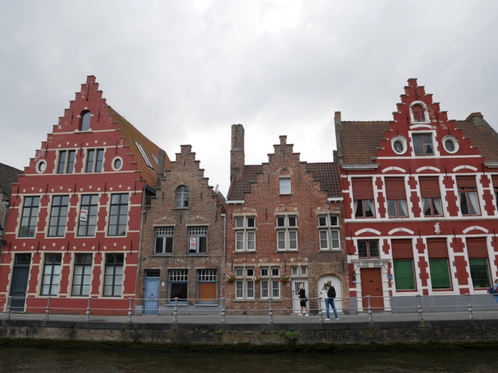 Bruges canal side gingerbread houses