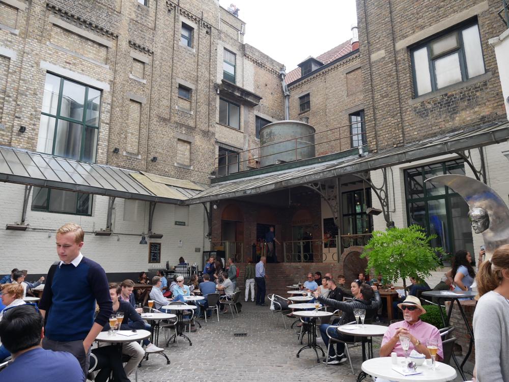 De Halve Maan Brewery courtyard - Bruges