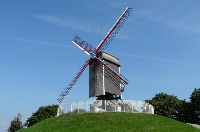 Sint-Janshuismolen windmill - Bruges