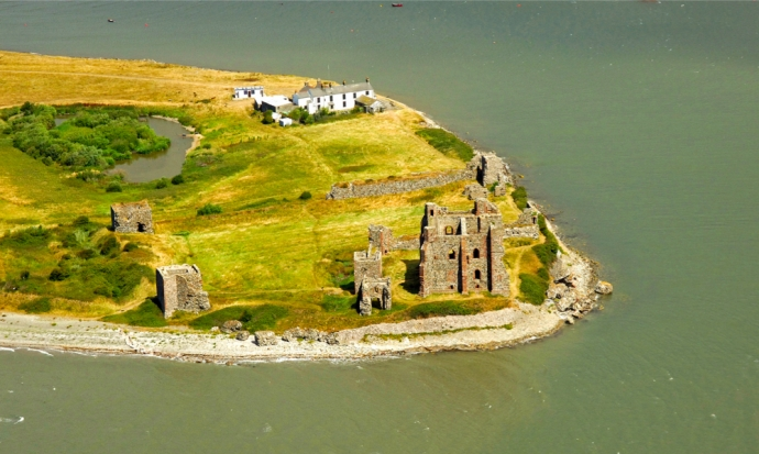 Piel Island - pub and castle ruins, near Barrow, Cumbria