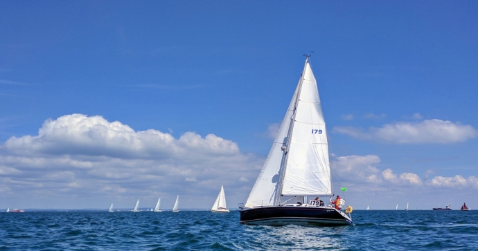 Sailing near Cowes - Isle Of Wight