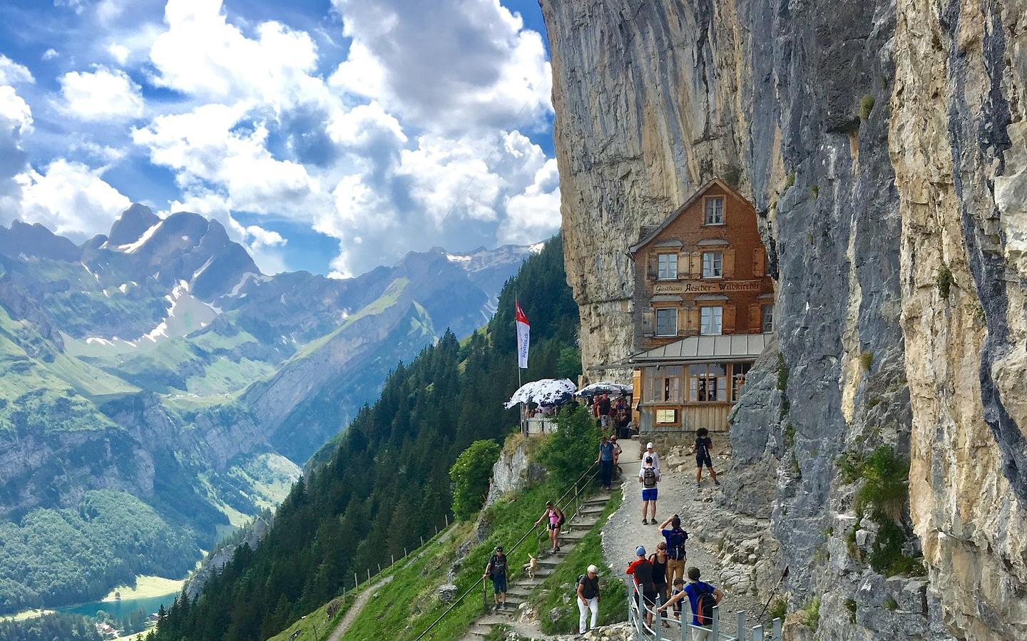 Berggasthaus Aescher - Whisky Hiking Trail, Switzerland