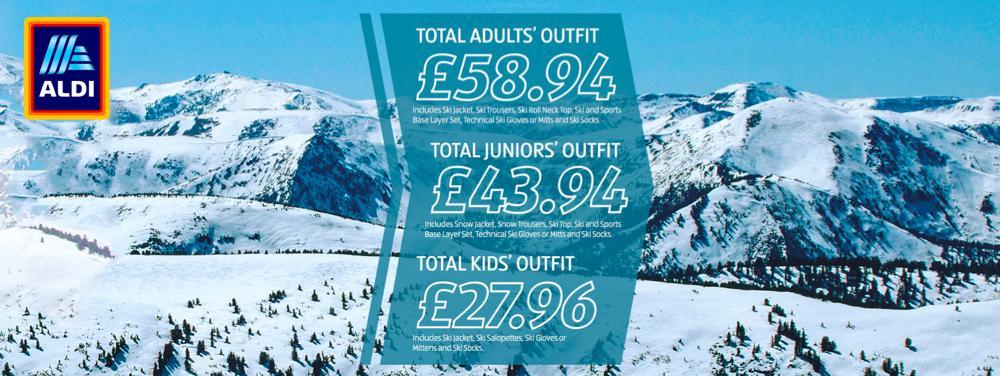 ALDI Ski wear advert