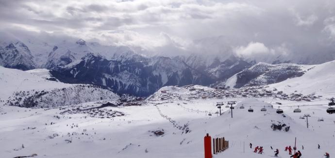 Red run below Marmottes lift - Alpe d'Huez
