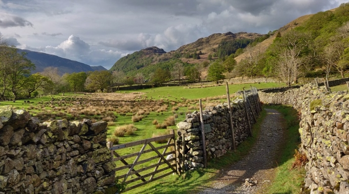 Borrowdale Valley in April - Lake District