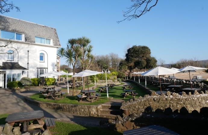 Beer Garden - Oxwich Bay hotel
