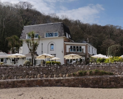 Beach view - Oxwich Bay hotel