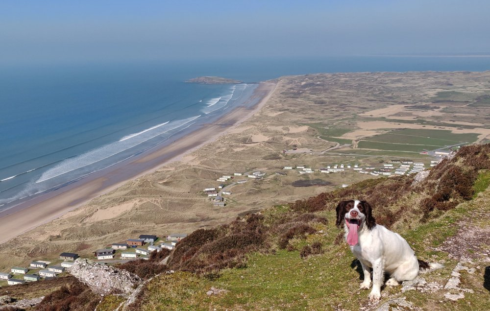 Views Of North Rhossili Bay and Hillend from the Beacon