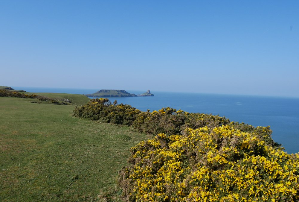 Rhossili Headland Walk - looking towards Worms Head