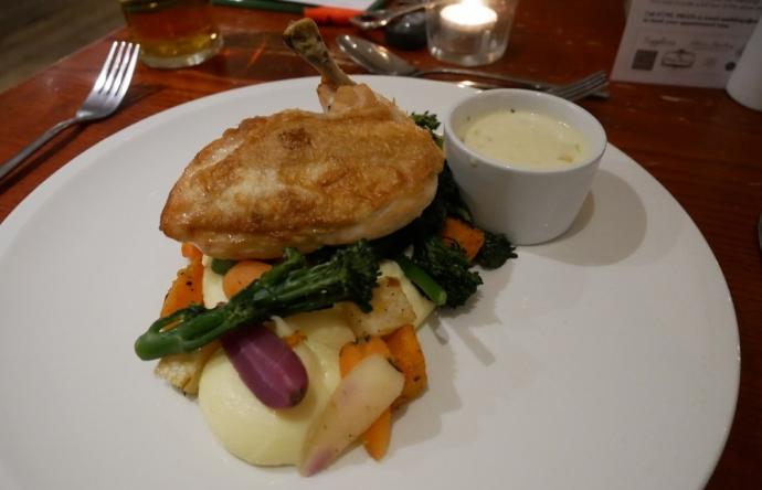 Roast Chicken - Oxwich Bay hotel