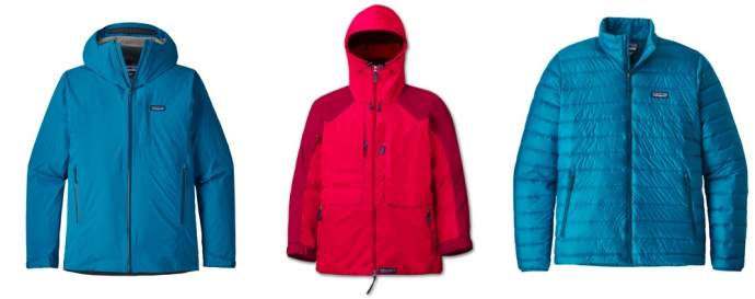 Waterproof and down jackets - Packing List