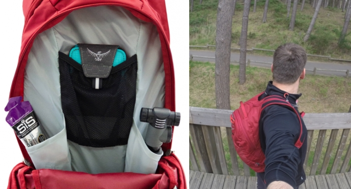 Osprey Raptor 14 Backpack- Internal Storage