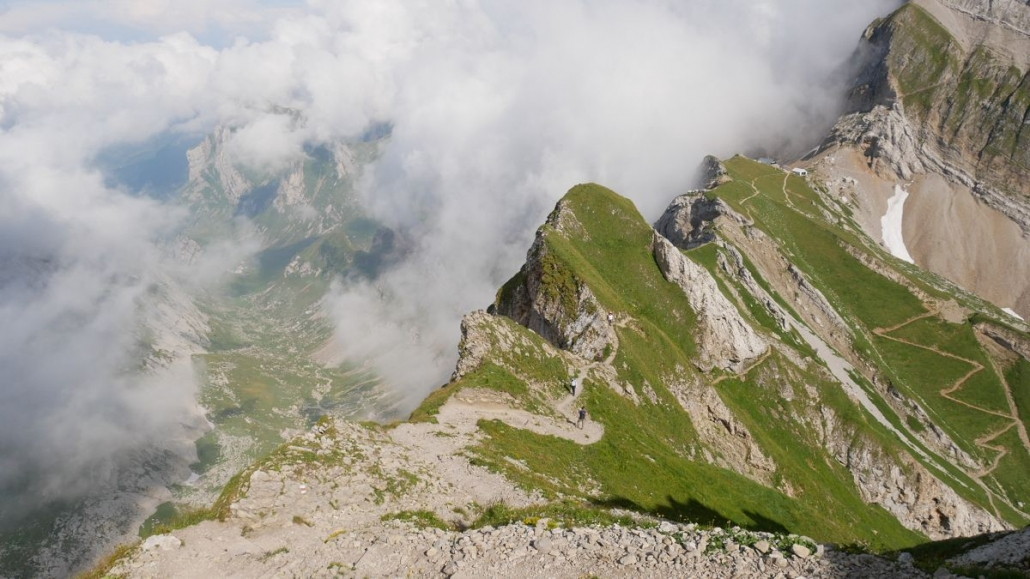 The incredible Lisengrat ridge - Swiss Alps