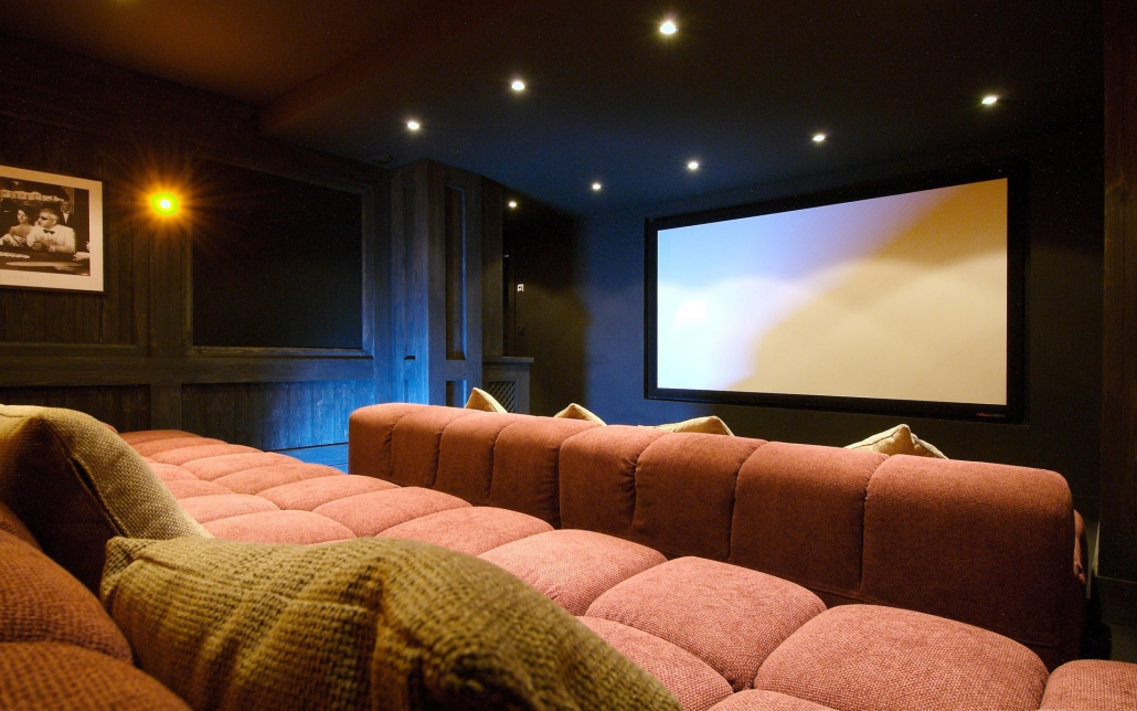 Chalet Pearl cinema room - Courchevel