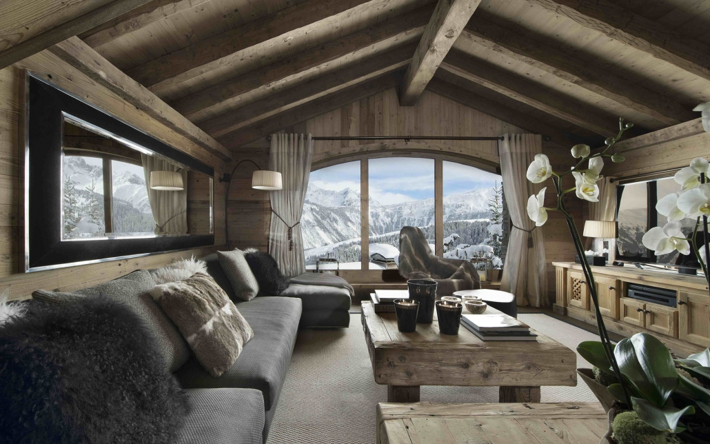 Chalet Pearl sofa area - Courchevel