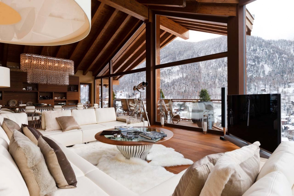 Chalet Zermatt Peak - Lounge Matterhorn Views