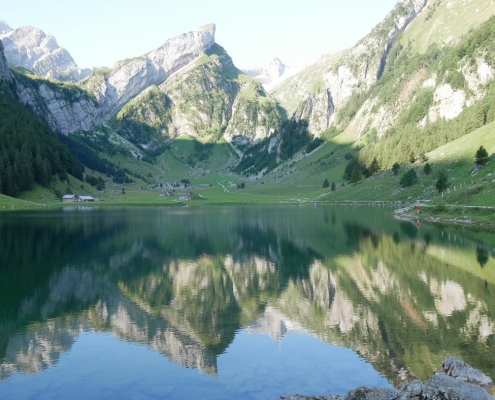 Seealpsee Swiss Alps Mountain Views
