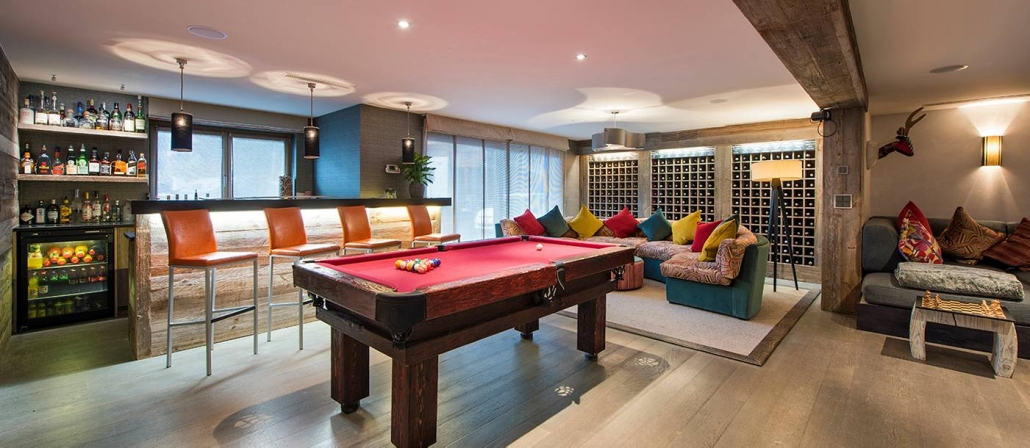 The Lodge, Verbier - Bar / Pool Table Room
