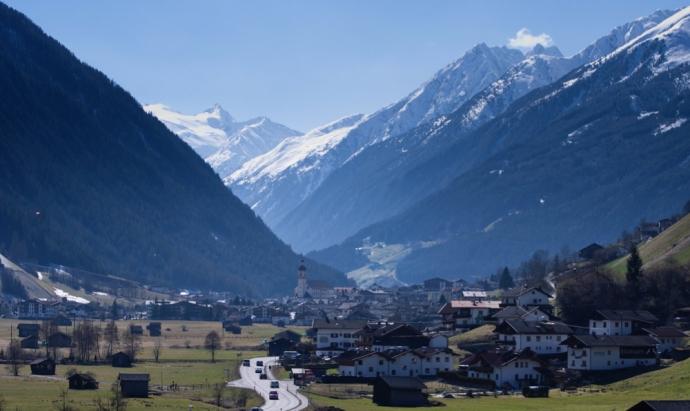 Neustift and the Stubai Glacier, Austria