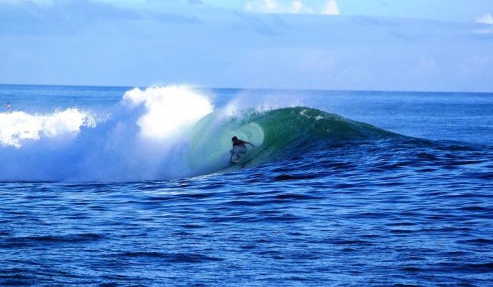 Surfing in Waikiki, Hawaii